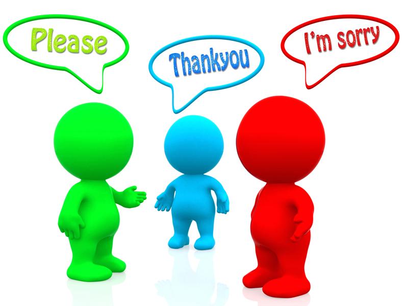 """""""Cảm ơn"""" và """"xin lỗi"""""""