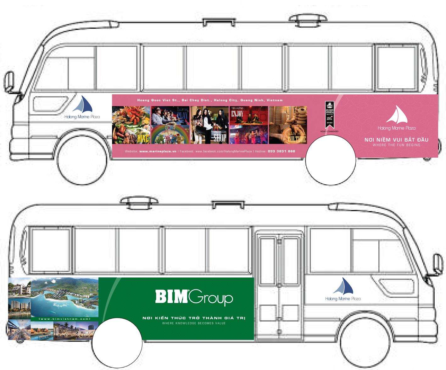 Xe bus du lịch miễn phí đầu tiên tại thành phố biển Hạ Long