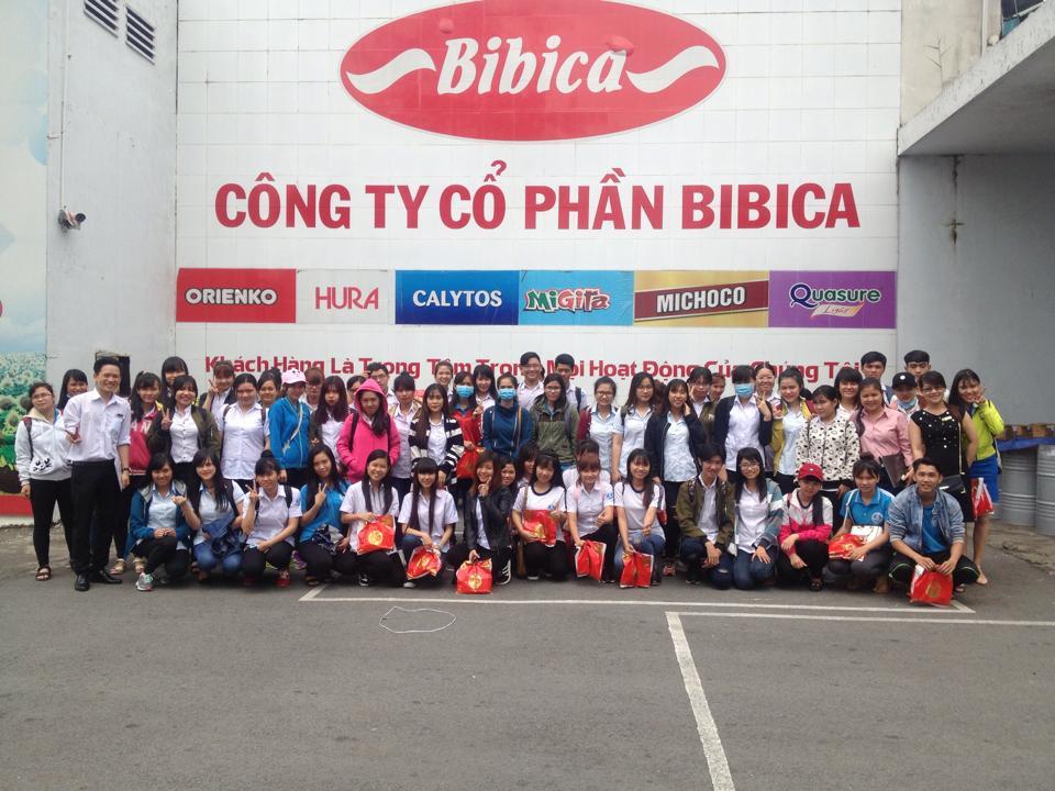 HSSV TRƯỜNG CAO ĐẲNG CÔNG NGHỆ THỦ ĐỨC THAM QUAN  CÔNG TY CỔ PHẦN BIBICA