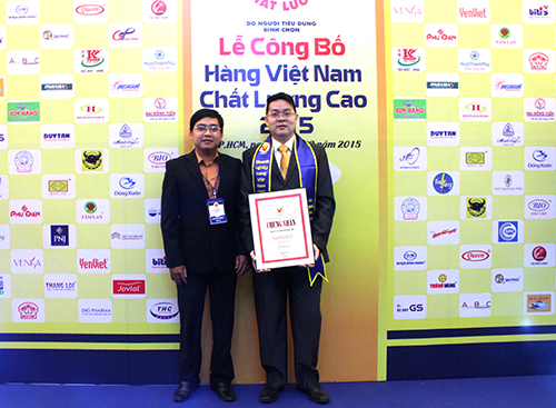 Đại Đồng Tiến nhận giải thưởng Hàng Việt Nam Chất Lượng Cao lần thứ 19 (Năm 2015)