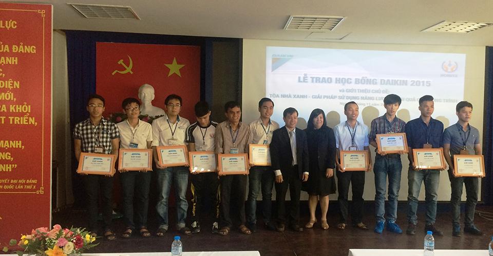 Trao Học Bổng Daikin 2015 Tại Đại Học Sư Phạm Kỹ Thuật TP.HCM