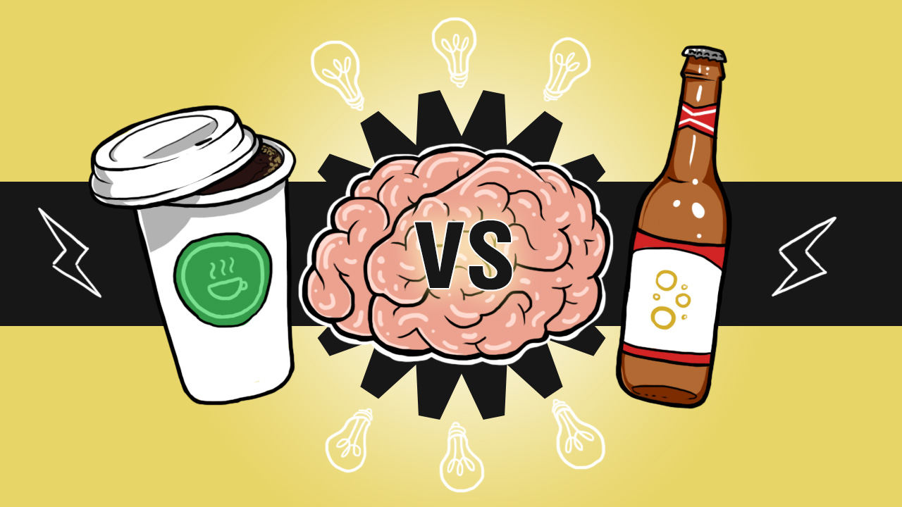 Infographic - Tác động tích cực của bia và cà phê trong công việc