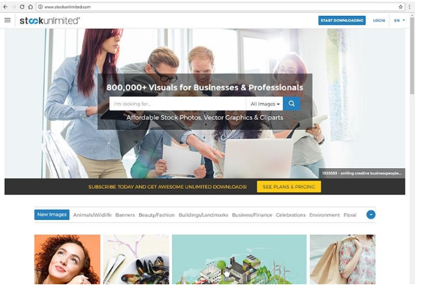 StockUnlimited cung cấp hơn 60,000 hình ảnh miễn phí