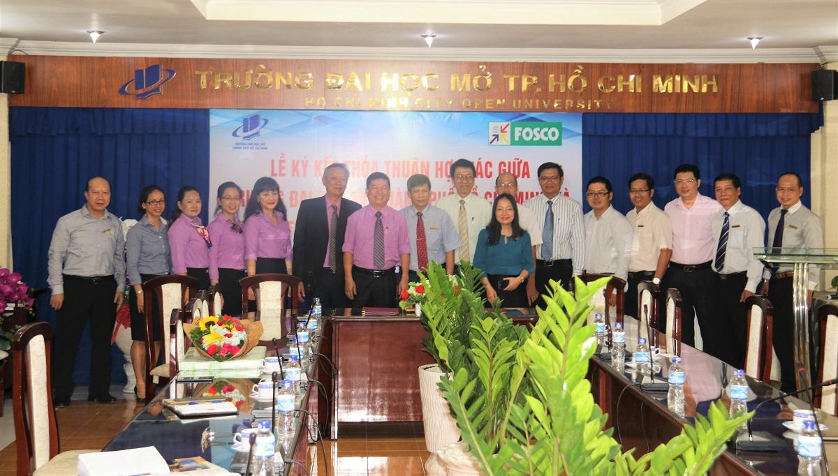 Lễ ký kết Thỏa thuận hợp tác giữa Công ty TNHH một thành viên Dịch vụ cơ quan nước ngoài (FOSCO) và Trường Đại học Mở TP. Hồ Chí Minh