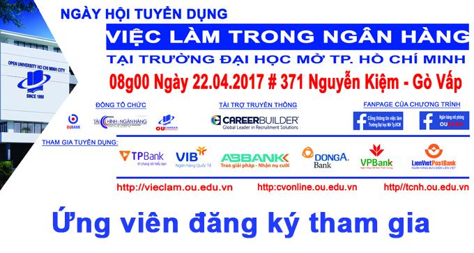 Ngày hội tuyển dụng ngân hàng tại Trường Đại học Mở Tp.HCM