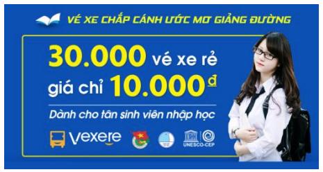 Chương trình 30.000 vé xe nhập học giá 10.000 đồng/vé dành cho Tân Sinh viên 2017