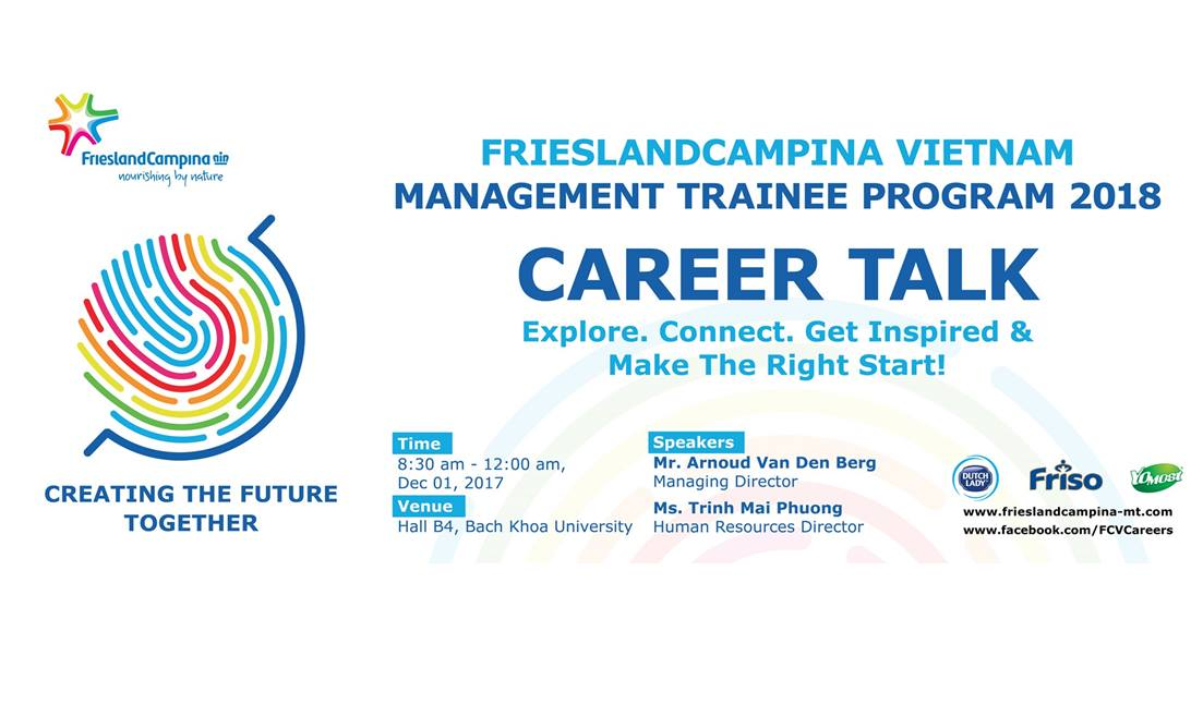 FrieslandCampina Vietnam Management Trainee 2018 program