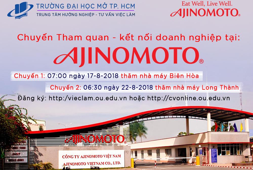 """Chương trình """"Tham quan doanh nghiệp – Kết nối thực tiễn"""" Tại Công ty Ajinomoto Việt Nam"""