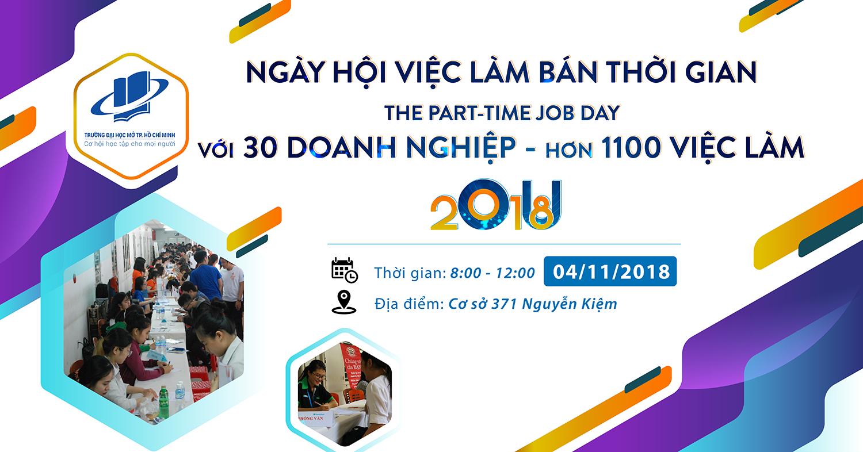 Thư mời Doanh nghiệp tham gia Ngày hội việc làm Bán thời gian - The Part-time Job Day 2018