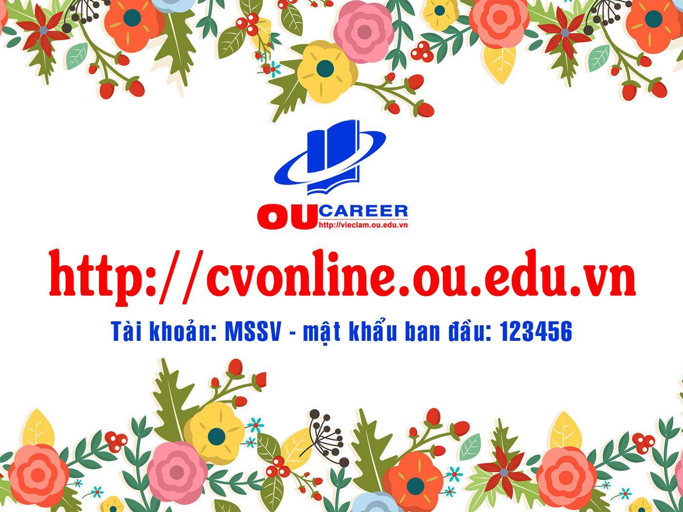 Hệ thống CVonline của Trường Đại học Mở Tp. Hồ Chí Minh
