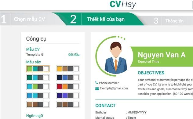 Tự thiết kế CV chuyên nghiệp tại CV Hay dành cho SInh viên trường Đại học Mở Tp.HCM