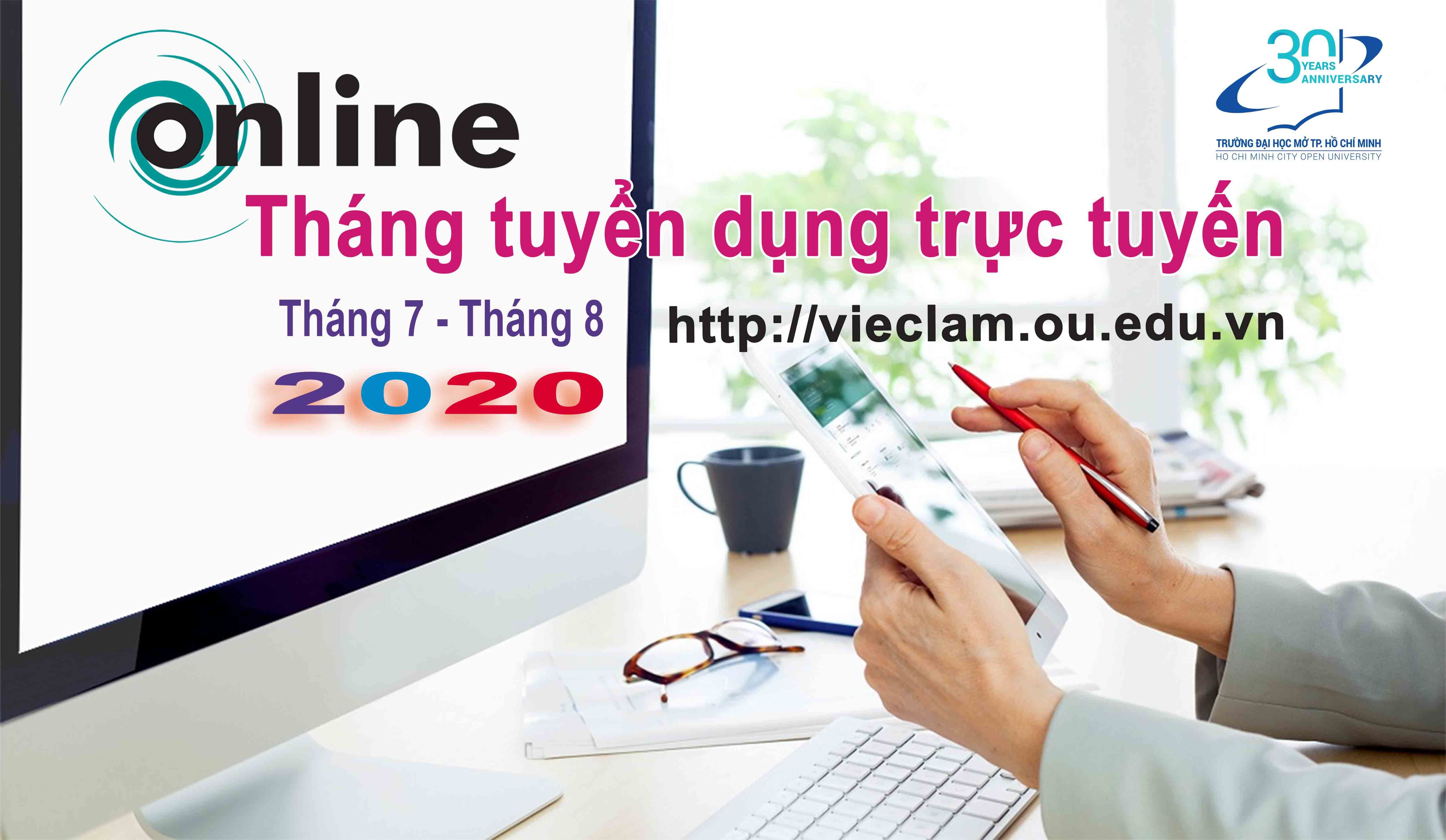 Chương trình Tháng thông tin tuyển dụng trực tuyến - Tháng 7,8 năm 2020