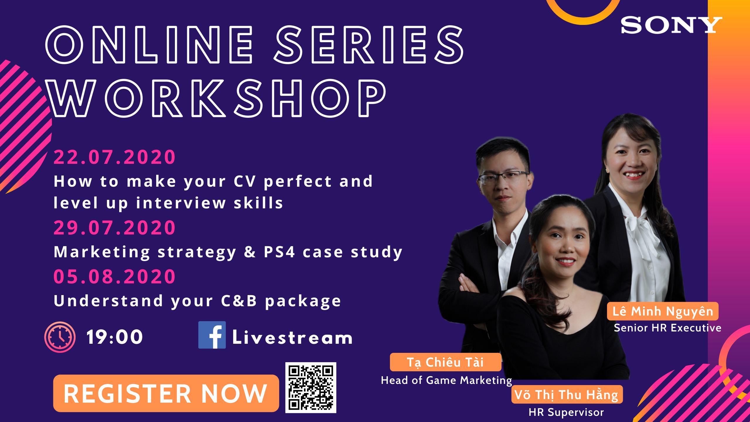 Chương trình SONY Online series workshop 2020