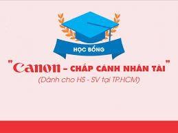 """Học bổng """"Canon - Chắp cánh nhân tài"""" dành cho học sinh, sinh viên"""