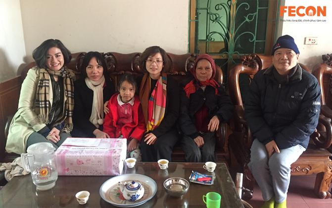 FECON tổ chức hoạt động thăm hỏi, hỗ trợ các gia đình CBCNV có hoàn cảnh khó khăn.