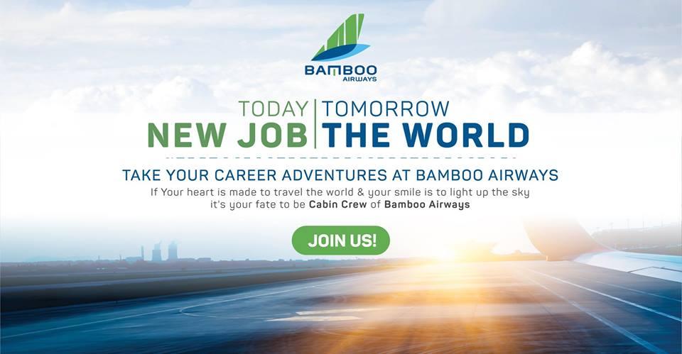 BAMBOO AIRWAYS - NGÀY HỘI TUYỂN DỤNG TIẾP VIÊN HÀNG KHÔNG