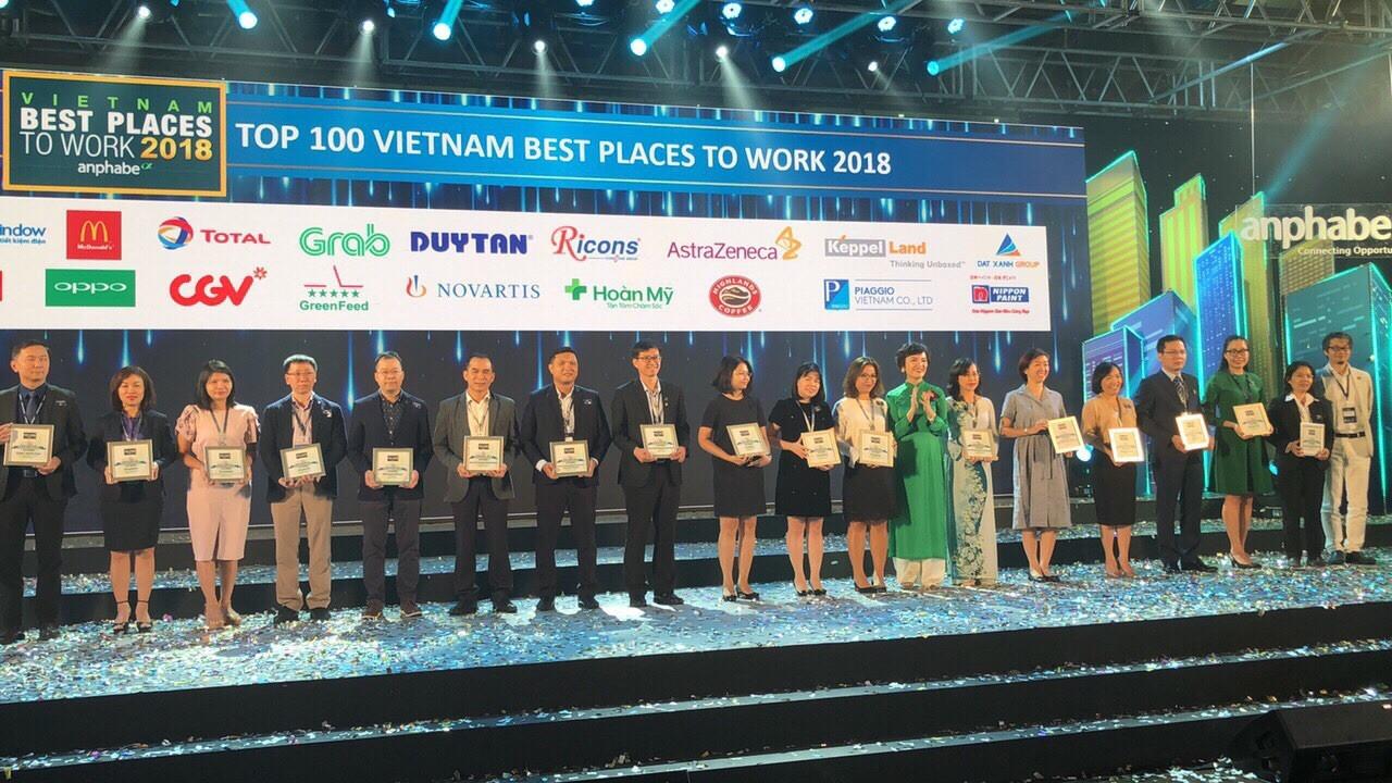 GreenFeed Việt Nam tiếp tục góp mặt trong Top 100 Nơi Làm Việc Tốt Nhất Việt Nam 2018