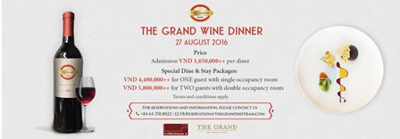 THE GRAND WINE DINNER 27 AUG 2016