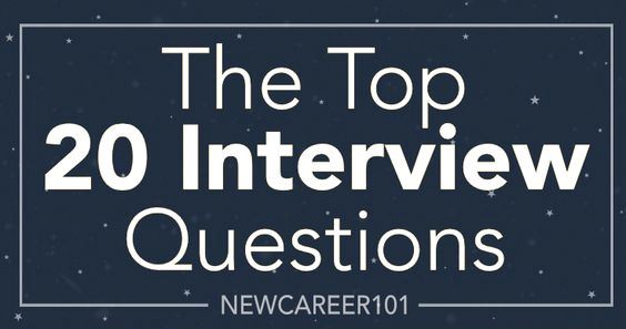 The Top 20 Interview Questions