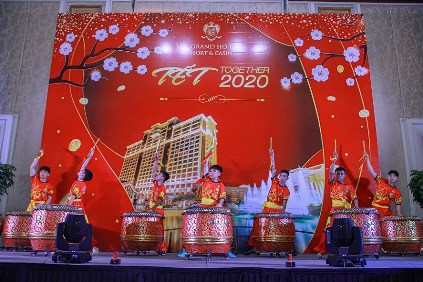 Excited and warm Tet Together Party 2020 for The Grand Ho Tram's Employees