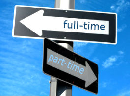 Turning a part-time job into a full-time job