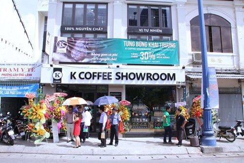 Khai Trương Showroom K COFFEE lớn nhất tại Sài Gòn