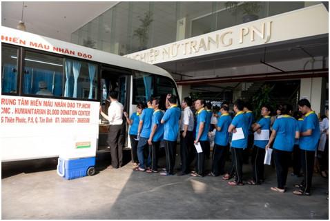 99 cán bộ nhân viên PNJ tham gia hiến máu nhân đạo