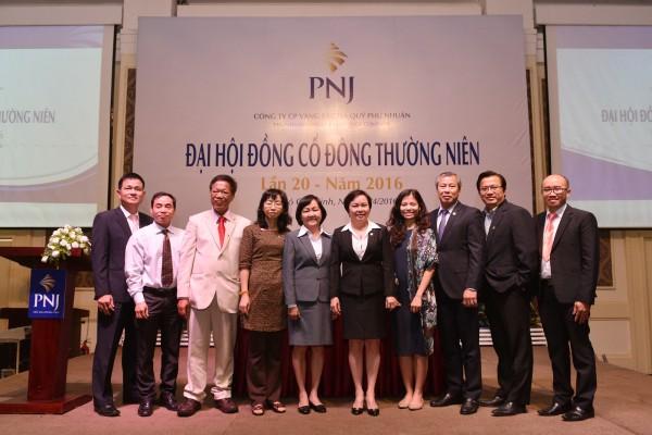 Cổ đông PNJ đồng thuận 99,99% nghị quyết đại hội đồng cổ đông 2016