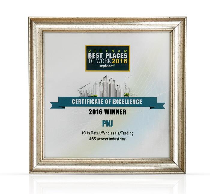 Lần thứ 3 liên tiếp PNJ có mặt trong Top 100 nơi làm việc tốt nhất Việt Nam