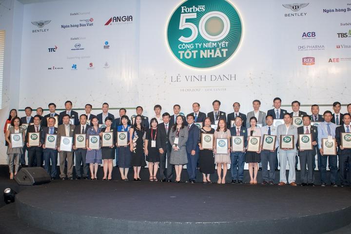 PNJ tiếp tục được vinh danh top 50 công ty niêm yết tốt nhất Việt Nam