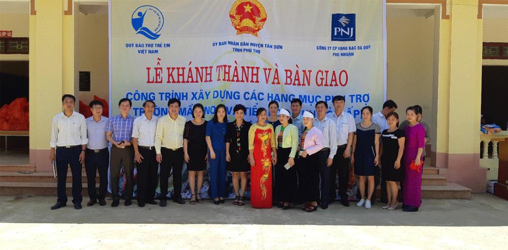 Qũy Từ Thiện PNJ: Gần 600 Triệu Đồng Xây Dựng Công Trình Phụ Trợ Trường Học Tại Phú Thọ