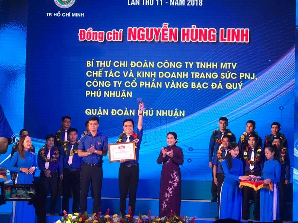 Anh Nguyễn Hùng Linh - Gương Thanh Niên Công Nhân Xuất Sắc của PNJ Nhận Giải Thưởng Nguyễn Văn Trỗi