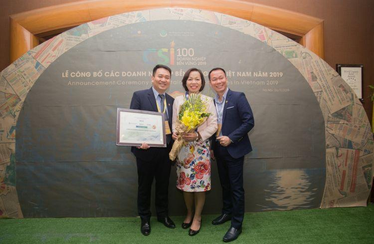 PNJ lần thứ 4 liên tiếp được vinh danh top 10 doanh nghiệp phát triển bền vững Việt Nam 2019