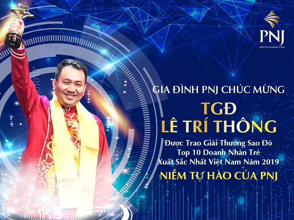 CEO PNJ Lê Trí Thông được vinh danh giải thưởng Sao Đỏ