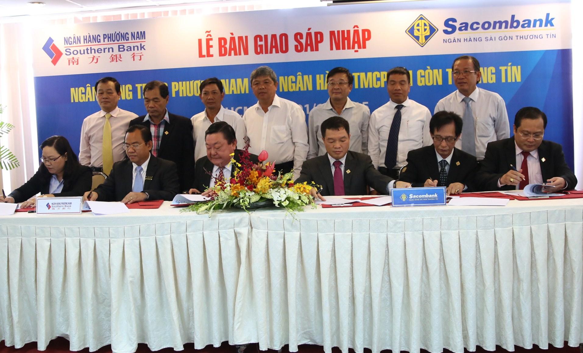Ký kết bàn giao chính thức sáp nhập Southern Bank vào Sacombank