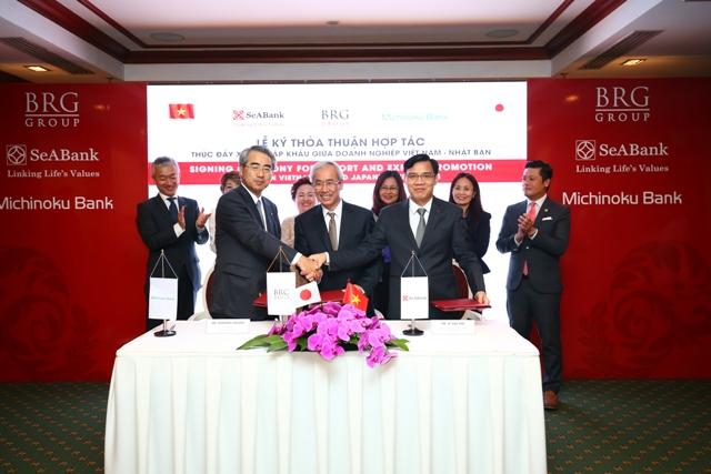 SeABank, BRG Group và Michinoku Bank ký kết hợp tác tài trợ Doanh nghiệp Xuất nhập khẩu