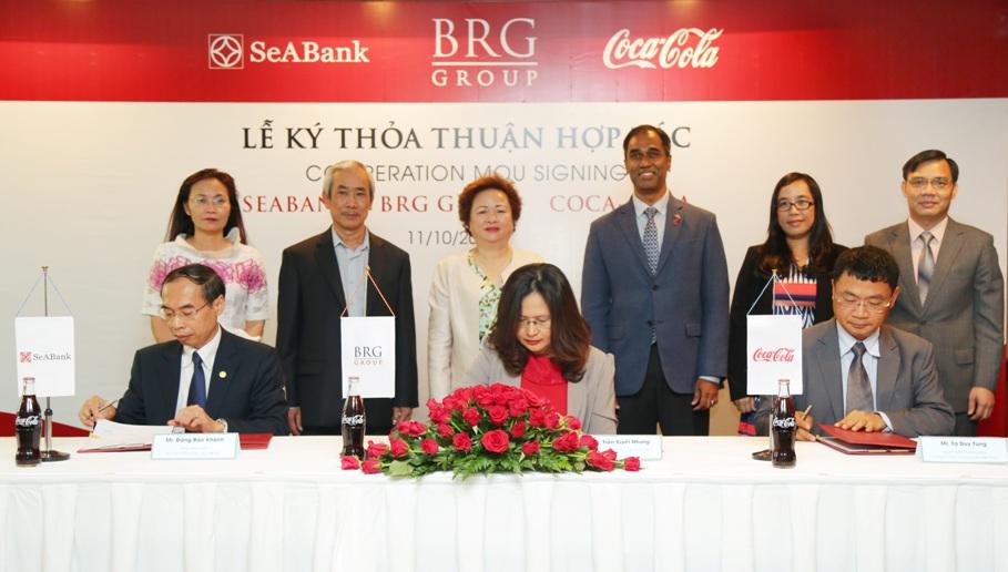 SeABank - Tập đoàn BRG - CocaCola ký thỏa thuận hợp tác toàn diện