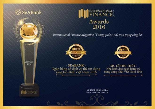 SeABank nhận giải thưởng quốc tế về dịch vụ thẻ tín dụng sáng tạo