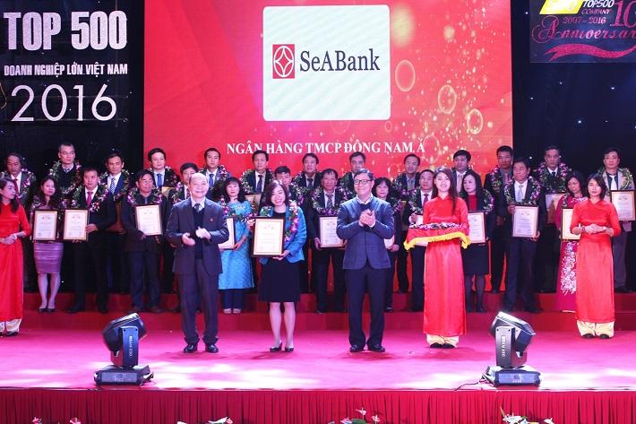 """SeABank đạt chứng nhận """"Top 500 doanh nghiệp tư nhân lớn Việt Nam – VNR 500"""""""