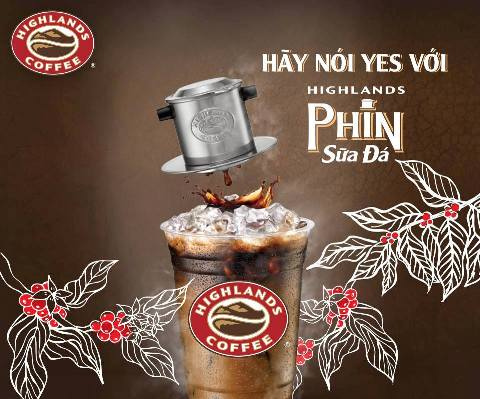 A JOURNEY OF A VIETNAMESE FILTERED ICED COFFEE WITH MILK (PHIN SỮA ĐÁ) AT HIGHLANDS COFFEE STORES