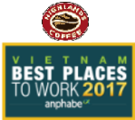 HIGHLANDS COFFEE – PROUDLY TO BE HONORED TOP 100 VIETNAM BEST PLACES TO WORK 2017 &  TOP 50 VIETNAMESE ENTERPRISES HAVING ATTRACTIVE BRANDS